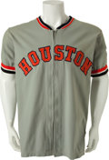 Baseball Collectibles:Uniforms, 1972 Larry Yount Game Issued Houston Astros Jersey....