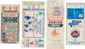 """Baseball Collectibles:Tickets, 1946-86 """"Curse of the Bambino"""" Game Seven Ticket Stubs Lot of 4...."""