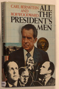Books:Americana & American History, Carl Bernstein and Bob Woodward. SIGNED BY WOODWARD. All thePresident's Men. New York: Simon and Schuster, [1974]. ...