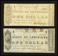 Obsoletes By State:Louisiana, Shreveport, LA- State of Louisiana $1 Mar. 1, 1864 Two Examples. ... (Total: 2 notes)