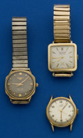 Timepieces:Wristwatch, Longines & Tissot & LeCoultre Automatic WristwatchesRunners. ... (Total: 3 Items)
