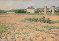 Fine Art - Painting, American:Modern  (1900 1949)  , FRENCH SCHOOL (LATE 19TH-EARLY 20TH CENTURY). French CountryLandscape with Houses in the Distance, circa 1890-1910. Oil...