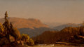 Fine Art - Painting, American:Antique  (Pre 1900), SANFORD ROBINSON GIFFORD (American, 1823-1880). View from Above,Kaaterskill Cove, 1860. Oil on canvas on board. 4 x 7-1...