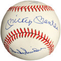 Baseball Collectibles:Balls, Mickey Mantle, Willie Mays and Duke Snider Multi Signed Baseball....