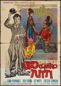 "Charlie Chaplin: One Against All (Valiant Films, 1962). Italian 2 - Fogli (38.5"" X 54""). Comedy"