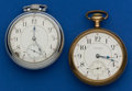 Timepieces:Pocket (post 1900), Two Waltham's 21 Jewel Vanguard 18 Size Pocket Watches. ... (Total:2 Items)