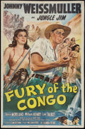 "Movie Posters:Adventure, Fury of the Congo (Columbia, 1951). One Sheet (26.5"" X 40"").Adventure.. ..."