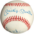 Baseball Collectibles:Balls, Mickey Mantle and Don Mattingly Multi Signed Baseball....