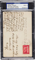 Autographs:Post Cards, 1915 Frank Chance Handwritten & Signed Real Photo Postcard, PSA/DNA Mint 9....