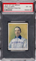 Baseball Cards:Singles (Pre-1930), 1910 D322 Tip Top Bread Fred Clarke PSA EX-MT 6 - Highest GradedExample Known! ...