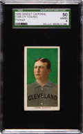 Baseball Cards:Singles (Pre-1930), 1909-11 T206 Sweet Caporal Cy Young, Portrait SGC 50 VG/EX 4....