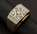 Estate Jewelry:Rings, Exceptional Gent's Diamond & Gold Ring. ...