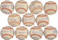Autographs:Baseballs, 1976 American League Team Signed Baseballs Lot of 11....