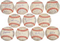 Autographs:Baseballs, 1977 American League Team Signed Baseballs Lot of 11....
