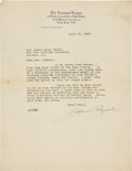 Autographs:Letters, 1922 John Heydler Signed Letter to Cap Anson's Daughter UponAnson's Death....