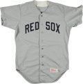 Baseball Collectibles:Uniforms, Circa 1990 Game Worn New Britain Red Sox Jersey Attributed to Jeff Bagwell....