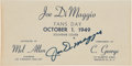 "Autographs:Others, Joe DiMaggio Signed ""1949 Joe DiMaggio Fans Day"" Cover...."