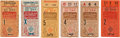Baseball Collectibles:Tickets, 1944 World Series Ticket Stubs Full Run of Six....