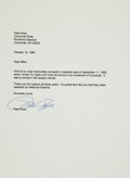 Autographs:Letters, 1985 Pete Rose Signed Letter Just After Breaking Cobb's Record....