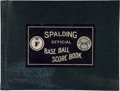 Baseball Collectibles:Others, Mid-1920's Spalding Scorebook with New York Teams, Includes GehrigRookie Season Games....