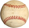 Baseball Collectibles:Balls, 1968 St. Louis Cardinals Team Signed Baseball (23 Signatures) -National League Championship Season (Maris included)!...