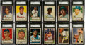 Baseball Cards:Sets, 1952 Topps Baseball Complete Low and Middle Series Run (310). ...