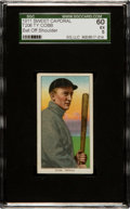 Baseball Cards:Singles (Pre-1930), 1909-11 T206 Sweet Caporal Ty Cobb, Bat Off SGC 60 EX 5 - RareFactory 42 Overprint! ...
