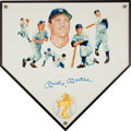 Autographs:Others, 1980's Mickey Mantle Signed Original Artwork....