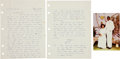 Basketball Collectibles:Others, 1981 Michael Jordan Handwritten Signed Love Letter....