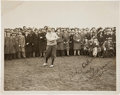 Golf Collectibles:Autographs, 1929 Open Championship Walter Hagen Signed Photograph....