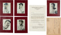 Baseball Cards:Sets, 1938 Sawyer Biscuit Chicago Cubs Collection (5) With Original Envelopes & Letter. ...