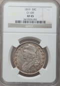 Bust Half Dollars: , 1819 50C XF45 NGC. O-109. NGC Census: (44/237). PCGS Population(59/231). Mintage: 2,208,000. Numismedia Wsl. Price for pr...