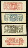 Confederate Notes:Group Lots, Chemicograph Backs Intended for Confederate Currency.. ... (Total:6 notes)
