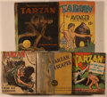 """Books:Children's Books, [Big Little Book]. Group of Five Tarzan Titles, including:Tarzan the Terrible. """"1453"""" on spine. [and:]... (Total: 5Items)"""