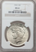 Peace Dollars, (2)1923 $1 MS61 NGC. ... (Total: 2 coins)