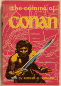 Books:Science Fiction & Fantasy, Robert E. Howard. The Coming of Conan. New York: Gnome, [1953]. First edition, first printing. Octavo. 224 pages. Pu...