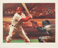 Autographs:Others, 1976 Stan Musial Signed Lithographs Lot of 16....
