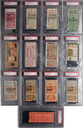 Baseball Collectibles:Tickets, 1929-37 World Series PSA-Graded Ticket Stubs Lot of 13....