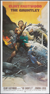 "The Gauntlet (Warner Brothers, 1977). International Three Sheet (41"" X 77""). Action"