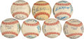 Autographs:Baseballs, 1977-83 Toronto Blue Jays Team Signed Baseballs Lot of 7. ...