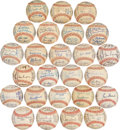 Autographs:Baseballs, 1958-83 Washington Senators/Minnesota Twins Team Signed BaseballsLot of 25....