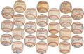 Autographs:Baseballs, 1958-83 Boston Red Sox Team Signed Baseballs Lot of 24. ...