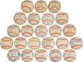 Autographs:Baseballs, 1961-83 Baltimore Orioles Run of Team Signed Baseballs Lot of23....