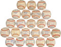 Autographs:Baseballs, 1961-83 Detroit Tigers Run of Team Signed Baseballs Lot of 22. ...