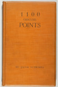 Books:Books about Books, [Books about Books]. Jacob Schwartz. 1100 Obscure Points. The Bibliographies of 25 English and 21 American Authors...