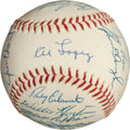 Baseball Collectibles:Balls, 1965 American League All-Star Team Signed Baseball....