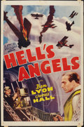 "Movie Posters:War, Hell's Angels (Astor, R-1940s). One Sheet (27"" X 41""). War.. ..."