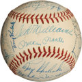 Autographs:Baseballs, 1958 American League All-Star Team Signed Baseball....