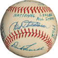 Autographs:Baseballs, 1962 National League All-Star Team Signed Baseball....