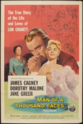 "Movie Posters:Drama, Man of a Thousand Faces (Universal International, 1957). One Sheet (27"" X 41""). Drama.. ..."